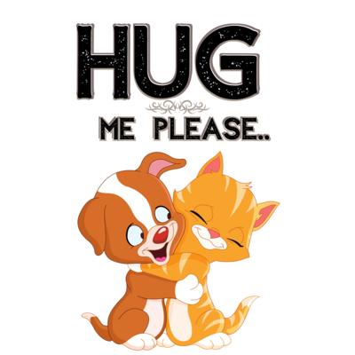"""Hug me please,"" fantastic t-shirt.."