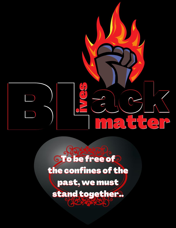 """""""Black Lives Matter,"""" We stand together T-Shirt.."""