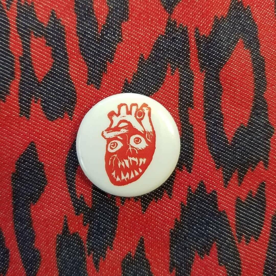 Heart Monster Small Pin