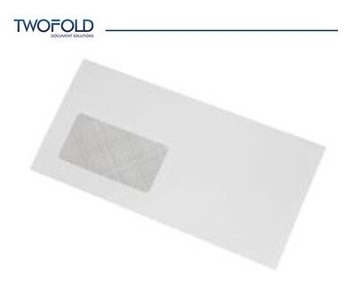 DL White Window Machine Envelopes (1000)