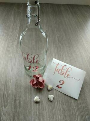 Table numbers for weddings, party decor and events,  vinyl sticker decals