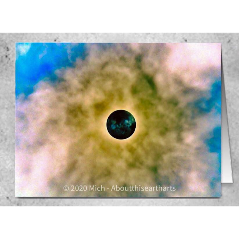 Wolf Moon -Blank Greeting Card