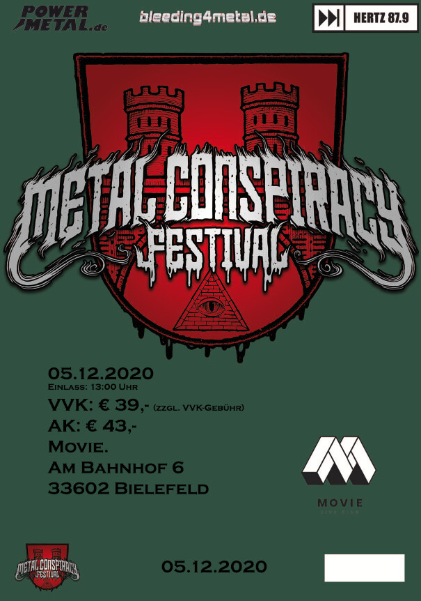 Metal Conspiracy Festival, Tagesticket, Samstag, 05.12.2020