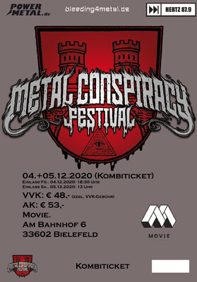 Metal Conspiracy Festival, Combi-Ticket, Fr/Sa 04./05.12.2020