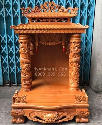 Bàn thờ thần tài mái chùa bo viền