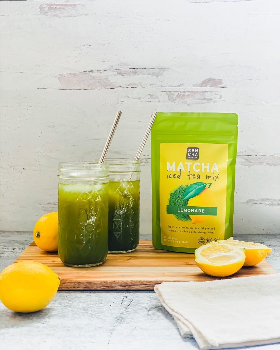 Sencha Matcha Iced Tea Lemonade