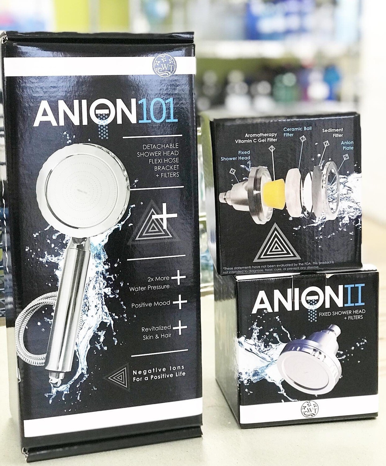 Anion 101 Showerhead w/ Hose