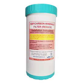 """4.5""""x10"""" KDF-Carbon Replacement Filter"""
