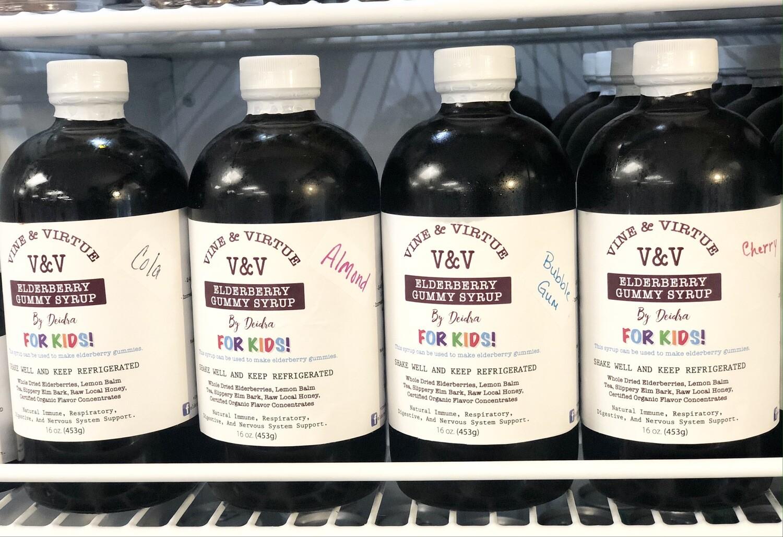 V&V Elderberry Gummy Syrup For KIDS