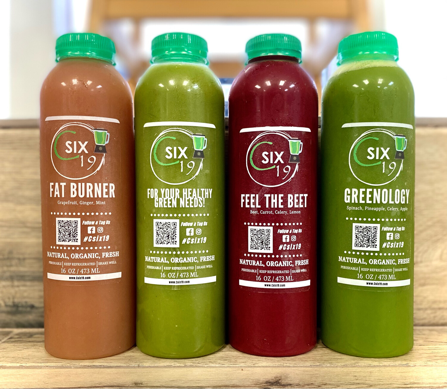 Csix19 Cold Pressed Green Juices