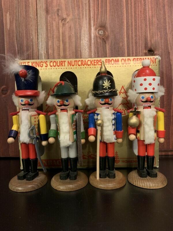 Four Little King's Court Nutcracker Ornaments