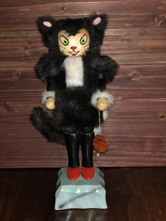 Black Cat Nutcracker and Music Box