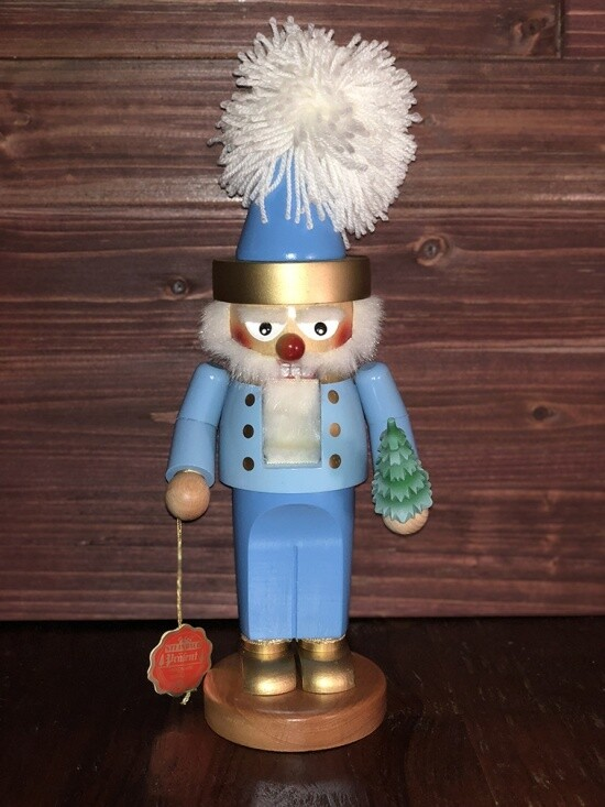 Blue Santa Nutcracker