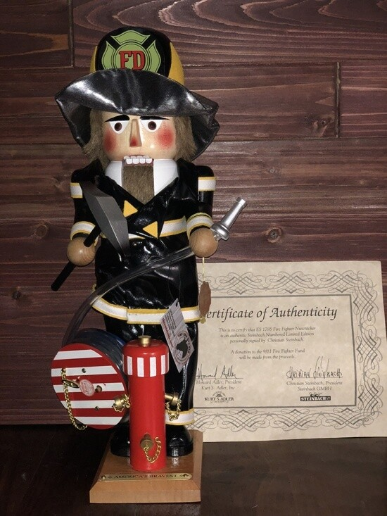 Fire Fighter Nutcracker and Music Box