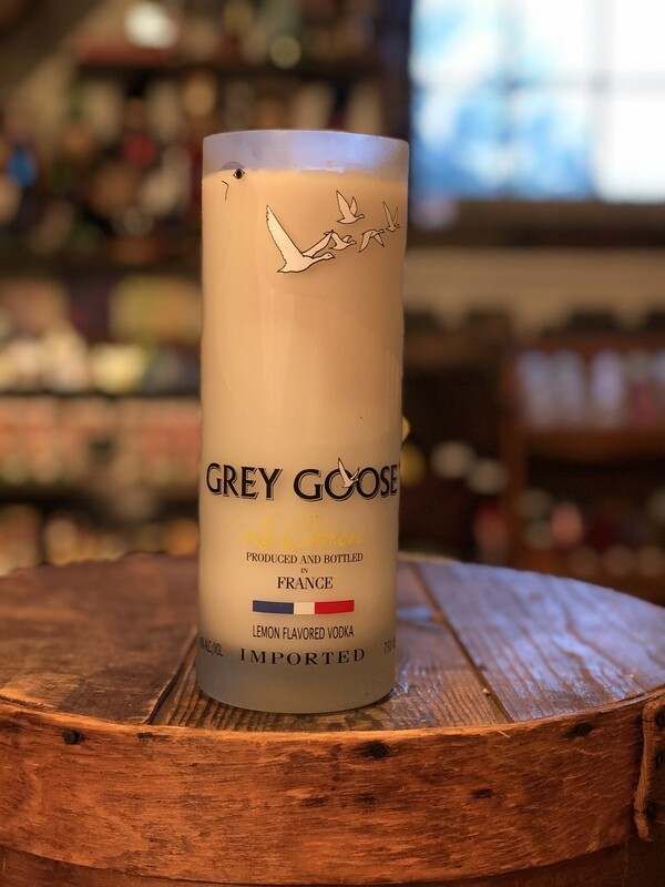 Grey Goose Recycled Bottle Candle