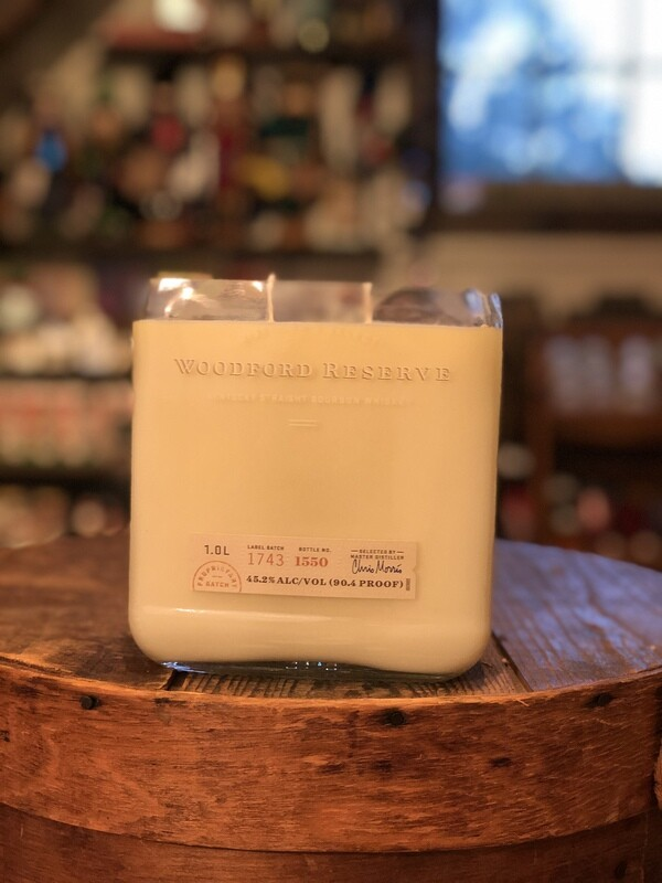 Woodford Reserve Recycled Bottle Candle