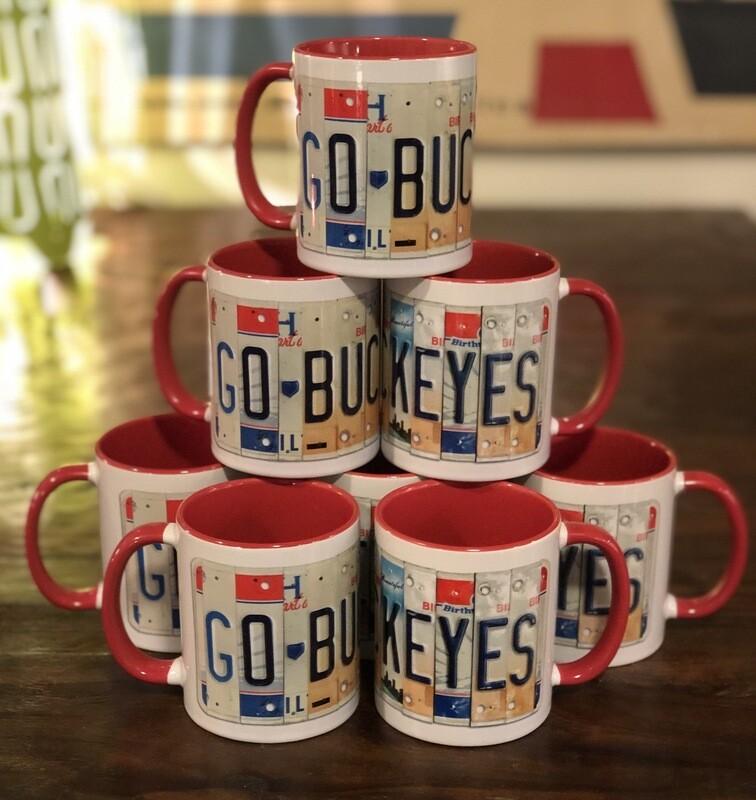 Go Buckeyes License Plate 10 oz Coffee Mug