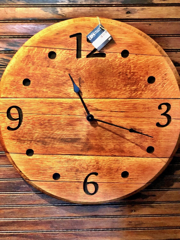 Whisky Barrel Top Clock