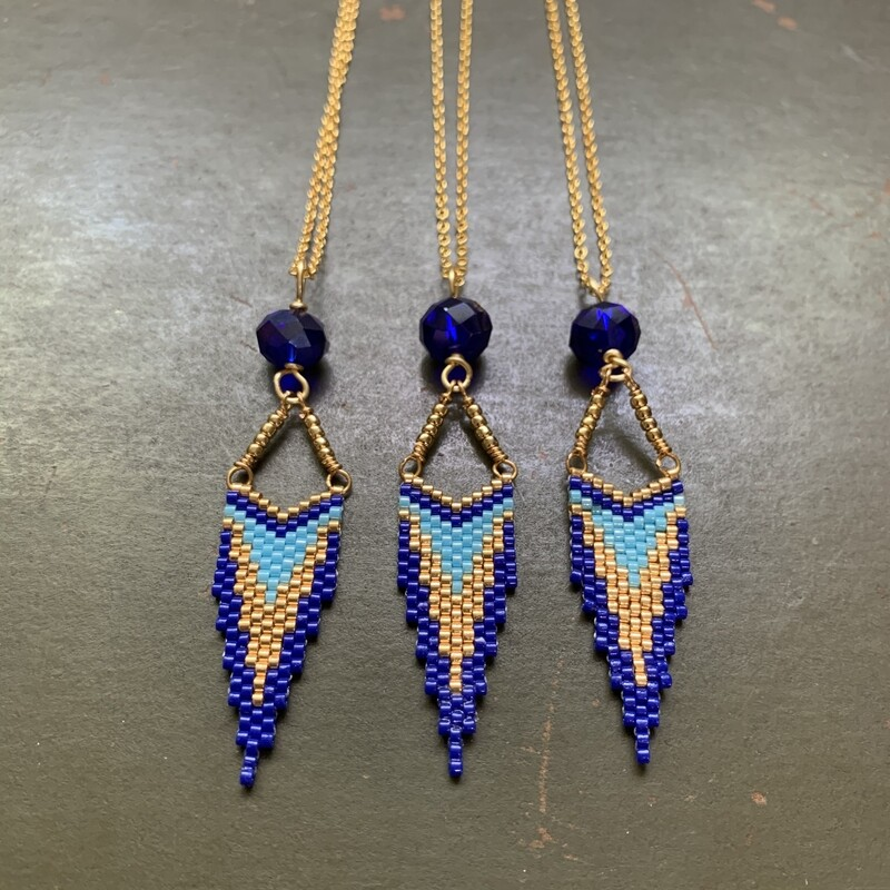 Cobalt Beaded Necklace