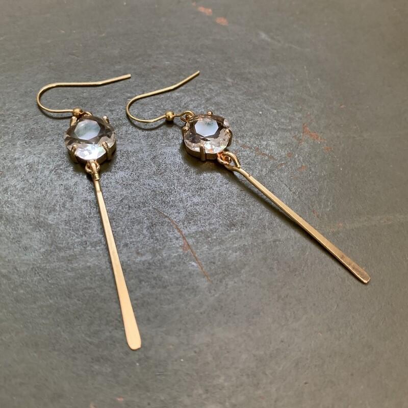 Crystal Paddle Earrings