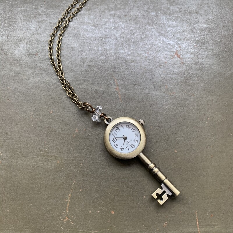 Key Watch Necklace