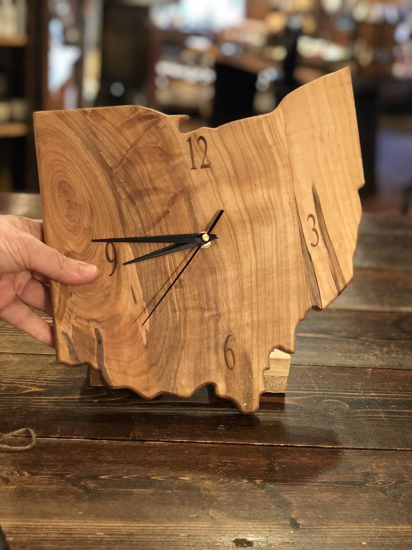 Wooden Ohio Clock