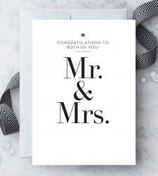 Congratulations Mr. & Mrs. Greeting Card