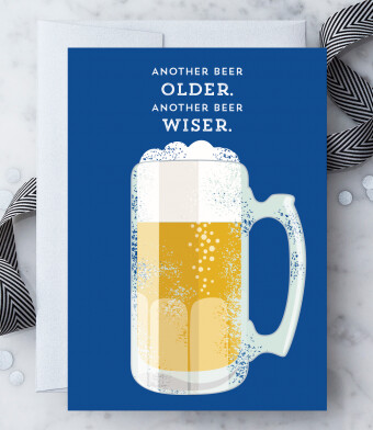 Another Beer Older Greeting Card