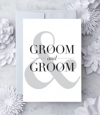 Bride & Groom Greeting Card