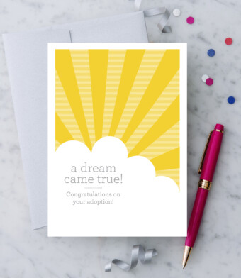 Congratulations on your adoption Greeting Card