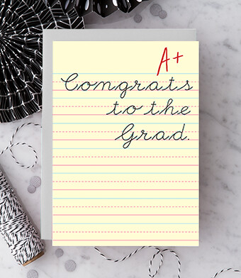 Congrats to the Grad A+ Greeting Card