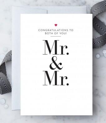 Congratulations Mr. & Mr. Greeting Card