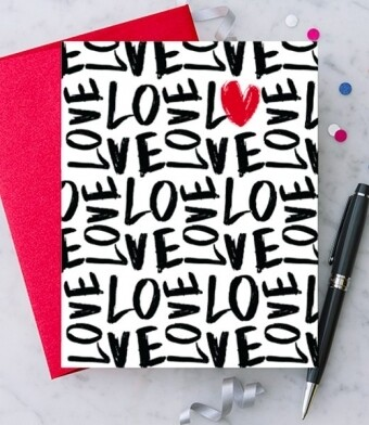 Handwritten Love Greeting Card