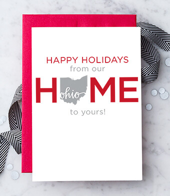 Happy Holidays From Our Home To Yours Greeting Card