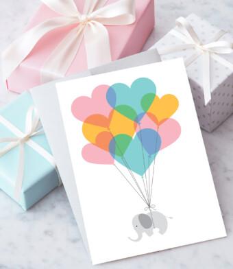 New Baby (Elephant) Greeting Card