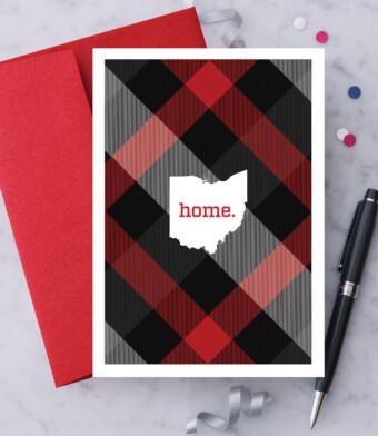 Plaid Ohio Greeting Card