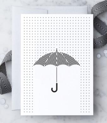 Oxford Street Umbrella Greeting Card