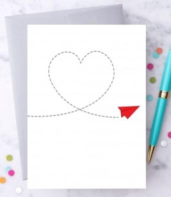 Paper Airplane Greeting Card