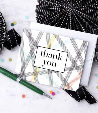 Thank You Card Greeting Card