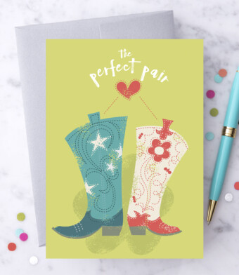 The Perfect Pair Greeting Card