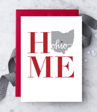Home Ohio Greeting Card