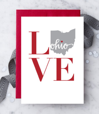 Love Ohio Greeting Card