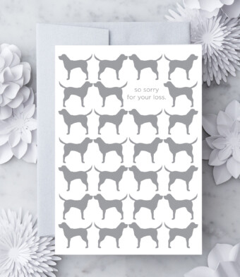 So sorry for your loss - Dog Sympathy Card