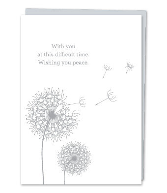 With you at this difficult time Sympathy Card