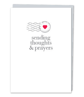 Sending thoughts & prayers Greeting Card