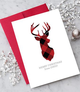 Ohio Reindeer Greeting Card