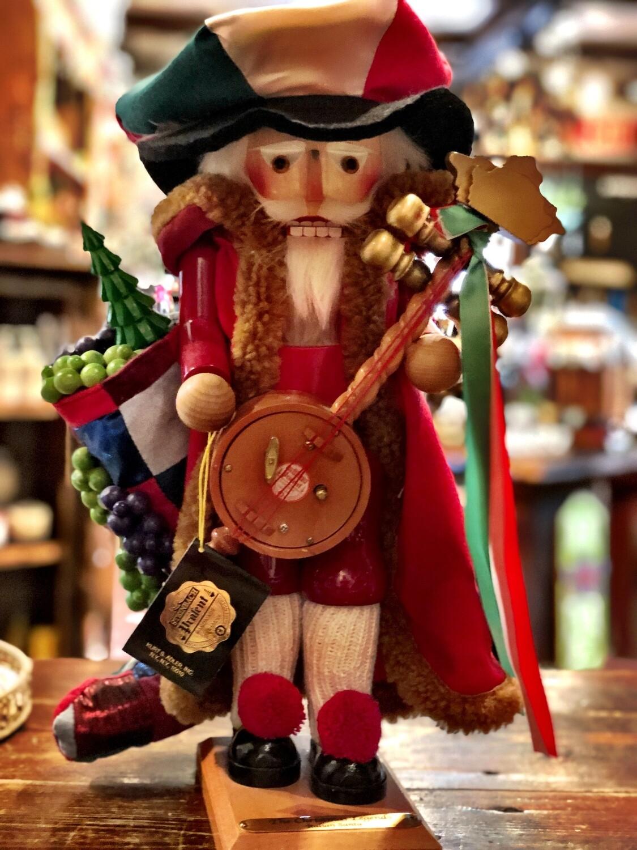 Italian Santa Nutcracker & Music Box