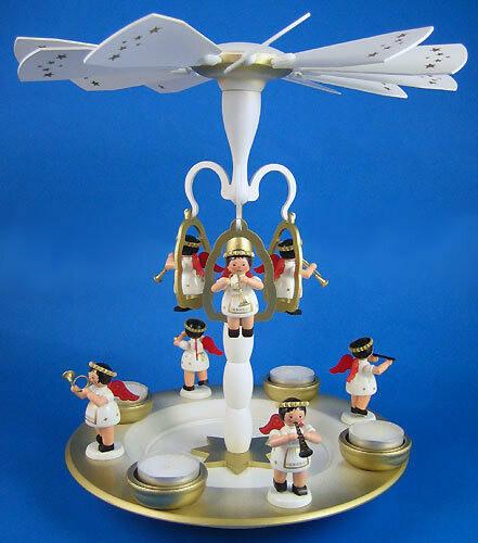 Flying Angel Christmas Carousel Pyramid