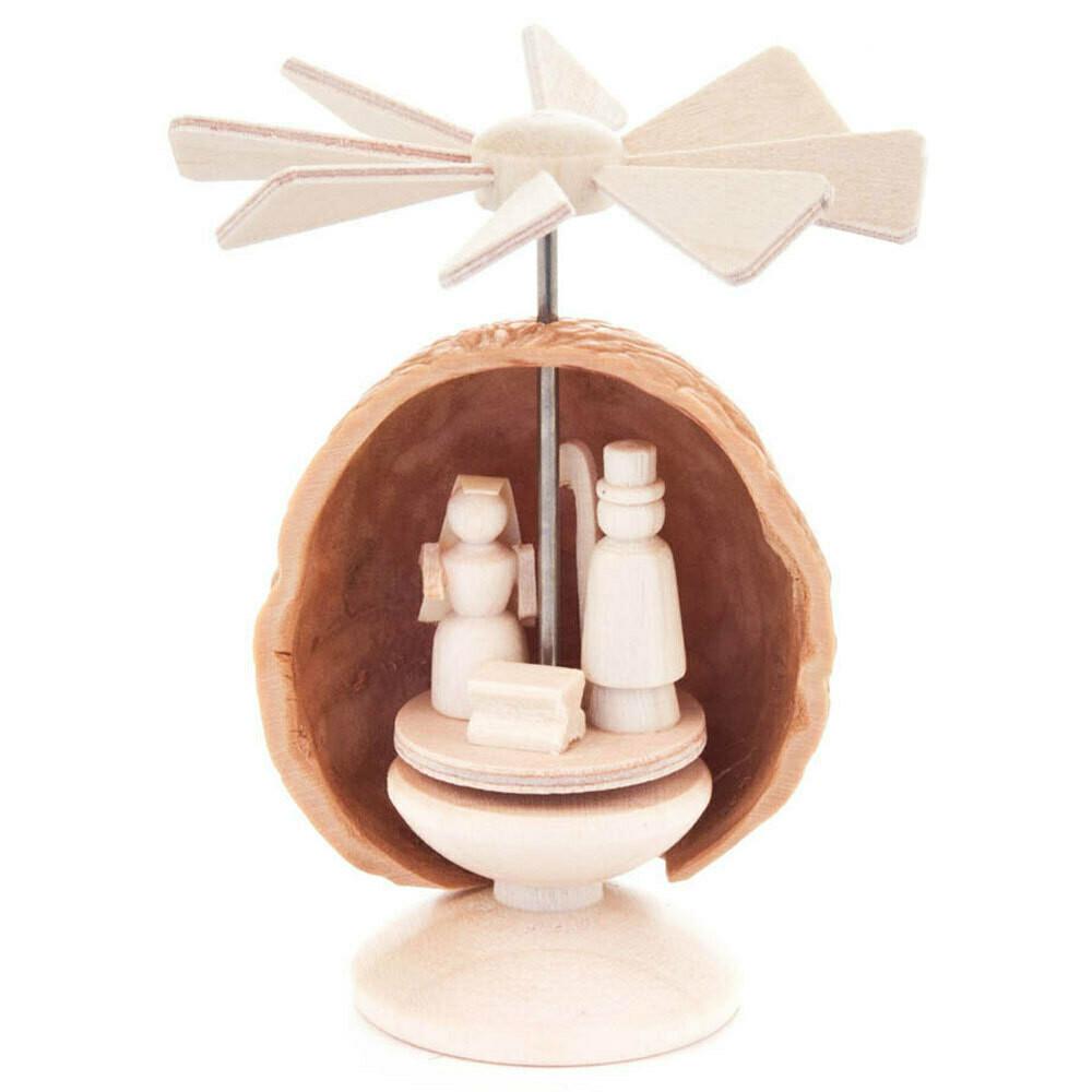 Miniature Nativity Pyramid Nutshell