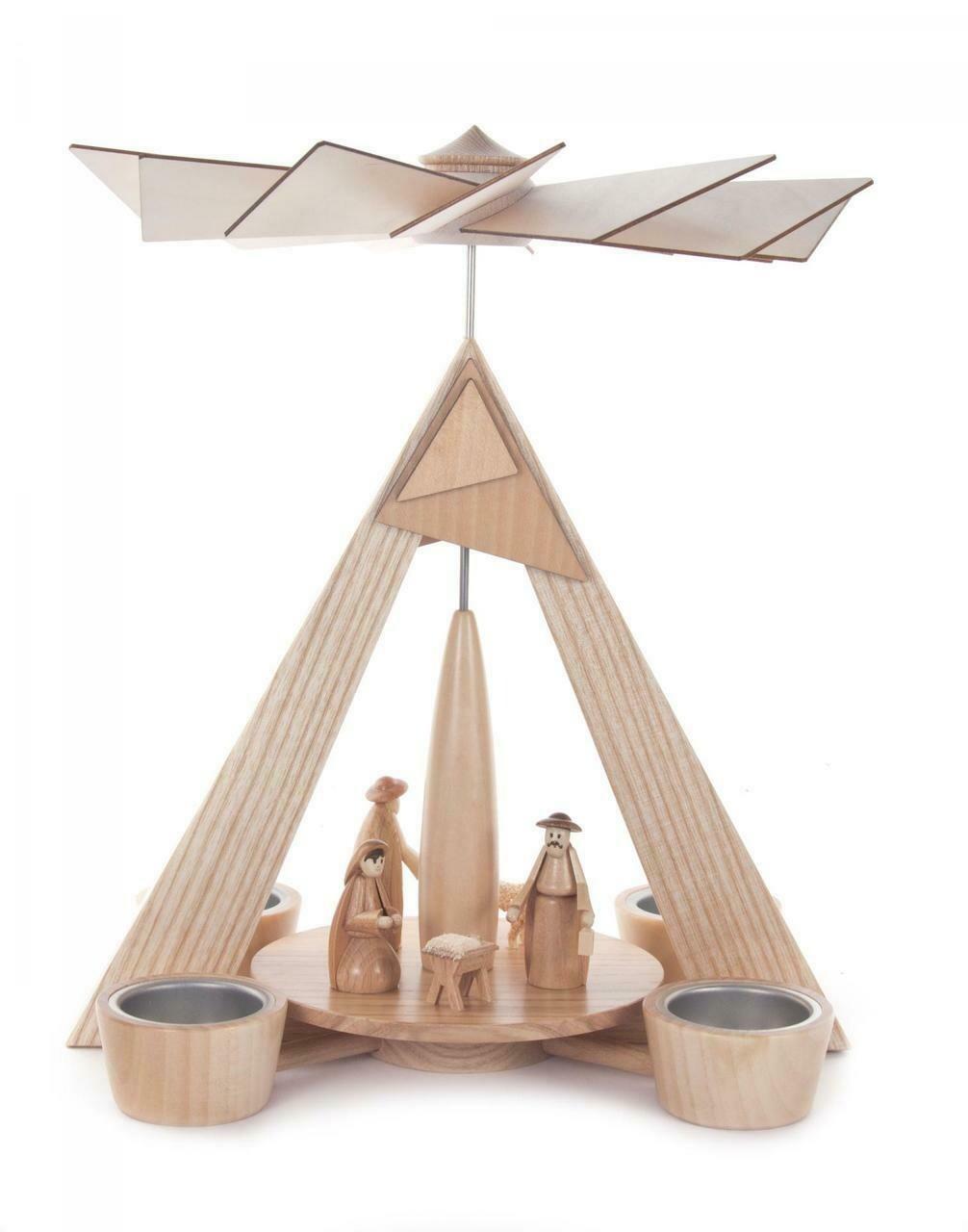 Modern Nativity Scene German Pyramid